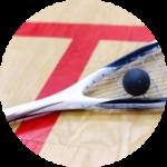 Orlando Squash Racquet with a squash ball in Squash Orlando