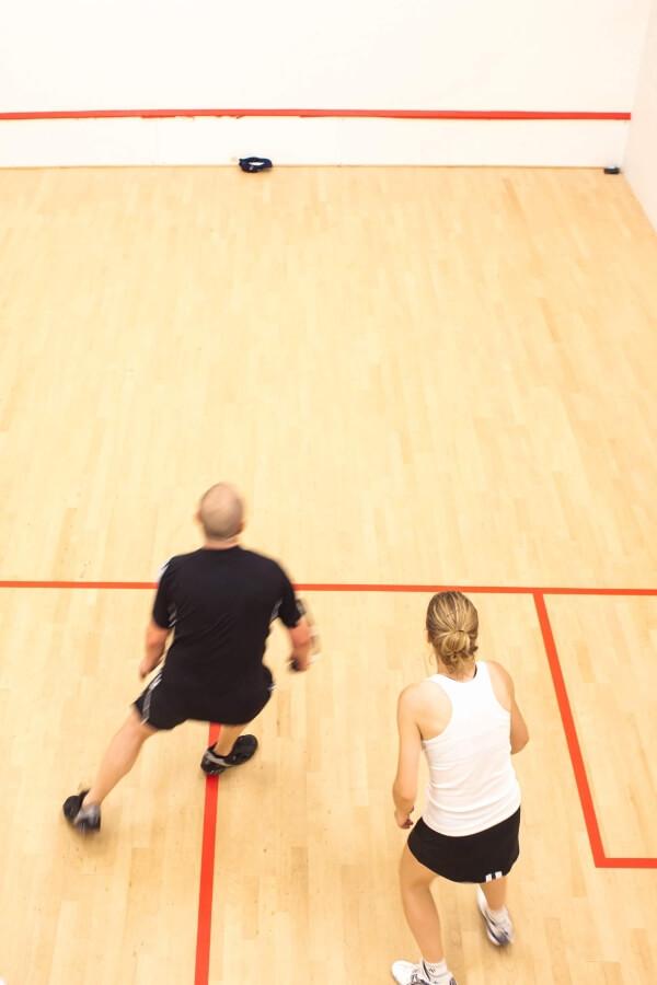 Squash Players playing squash in Orlando squash club