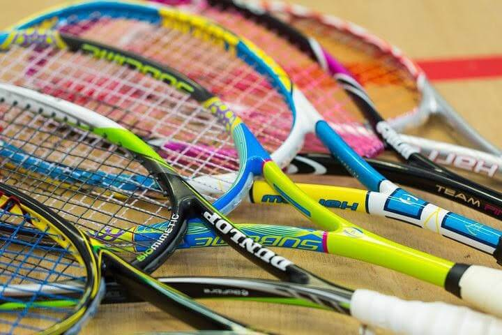 Squash Racquet and squash balls for squash proshop in florida