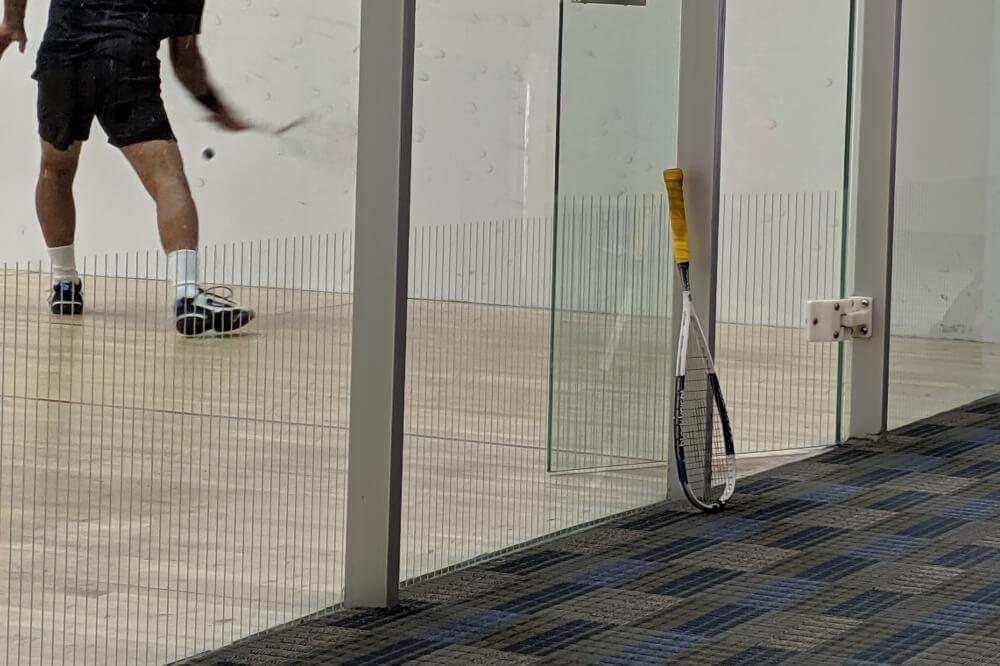 Squash player in Squash court Orlando