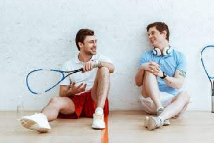 Squash player who finished their squash game talking about their next challenge