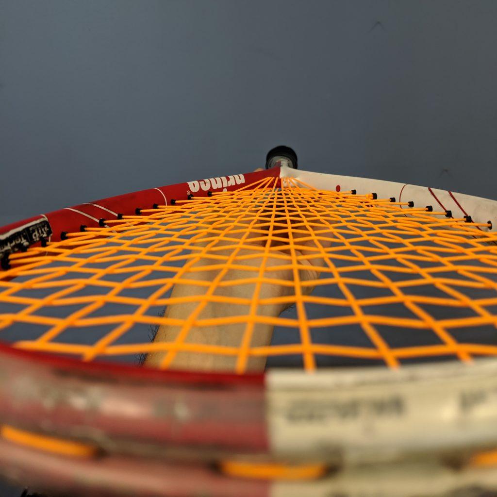Squash Racquet restrung with ashaway zx string orlando squash